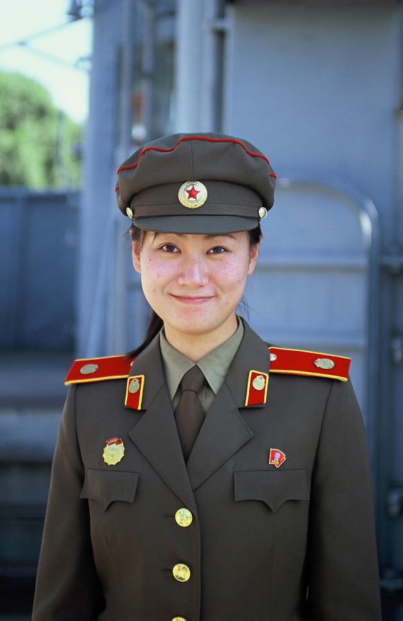 """I meet this young woman almost every time I visit. She recognised me again this time. She often leads the tours on the captured spy ship USS Pueblo which stands as a trophy on the Taedong River in Pyongyang. This time she asked me why I like her country and why I come there over and over again. """"To see the great unique people, the country's history and destiny, and its ongoing developments,"""" I answered."""