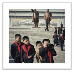This little North Korean dude and his school buddies were playing with one of my cameras this morning at Mansu Hill in #Pyongyang.